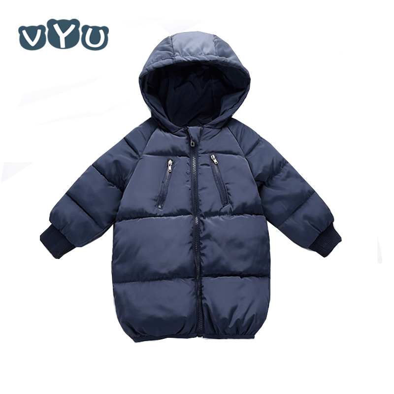 Children Winter Padded Coat Jacket Outerwear Collar-Down Baby Boys Kids Fashion New Warm