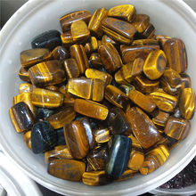 50g  Natural tigers-eye Quartz Polished Crystal Gravel Specimen Stones and Minerals Fish Tank Stone