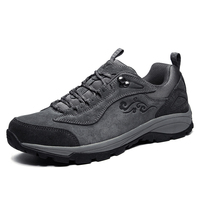 New Suede Low Top Lace Up Outdoor Sports Waterproof Lightweight Hiking Shoes Men Breathable Trekking Climbing