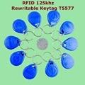 50 unids/lote 125 Khz de Proximidad RFID ID Writable EM4305 T5577 Inteligente Llaveros keyfob Regrabable Token Etiqueta Mandos de Control de Acceso