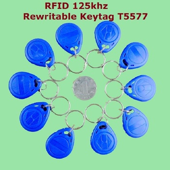 50pcs/Lot 125Khz Proximity RFID EM4305 T5577 Smart ID Writable keyfob Rewriteable Token Tag Keyfobs Keychains Access Control free shipping 10pcs 125khz rfid proximity id token tag key keyfobs keychain chain plastic for access system green color