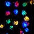 2 M Decoração Do Casamento Da Flor de Rosa LED Luzes Da Corda Da Bateria Cor Rosa Bouquet Festival Festa de Natal Do Jardim Quarto lumiere