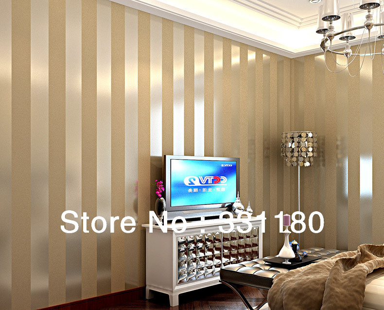 New black and white vertical stripe wallpaper living room for Silver wallpaper living room