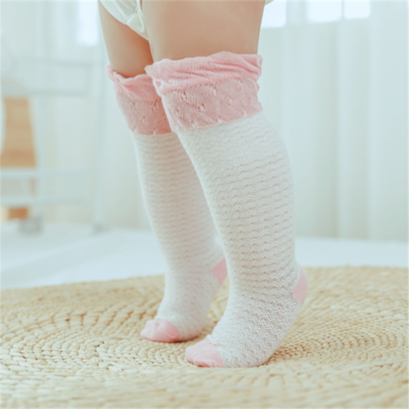 SLKMSWMDJ summer new mesh baby stockings stitching thin breathable children mosquito stockings cotton girls stockings 6 colors in Tights Stockings from Mother Kids