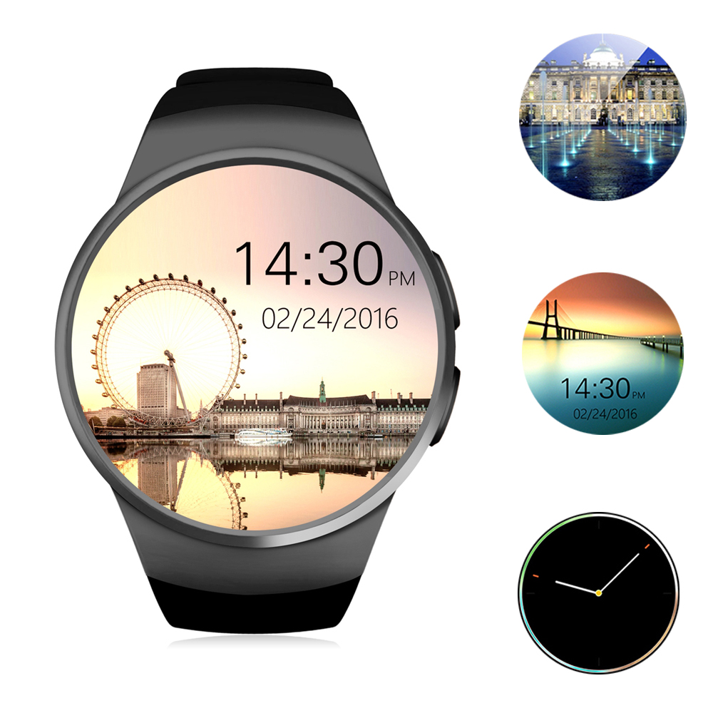 KW18 Bluetooth Smart Watch Phone Full Screen Support SIM TF Card Smartwatch Heart Rate monitor for apple IOS Android huawei bluetooth smart watch heart rate monitor sleep monitoring smart bracelet support sim tf sd card for ios android multi languages