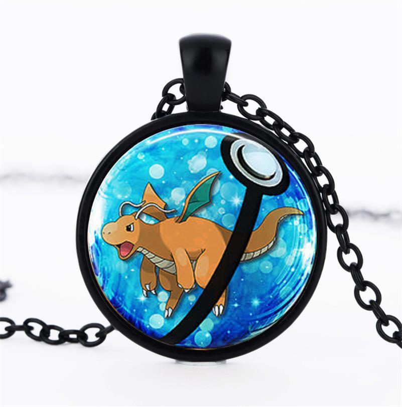 Halder Pokemon Pokemon Necklace Mobile Game Around Japanese font b Anime b font Time Glass Necklace