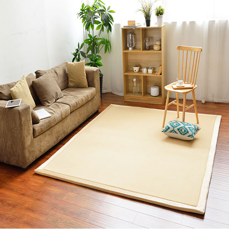 2CM Thick Japanese Style Tatami Carpet 100 200 2CM Solid Big Rugs Bedroom Non Slip Baby