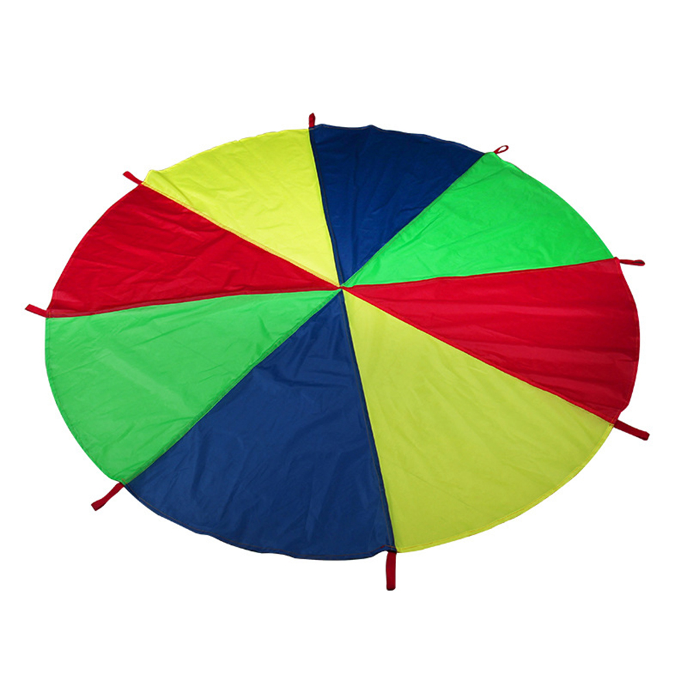 2m/3m/3.6m Kids Parachute Toy With Handles Play Parachute Tent Mat Cooperative Games Birthday Gift E2S
