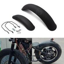 1set Motorcycle Retro Front+Rear Black Metal Fender Mudguard for Vintage Harley BOB BOBBER