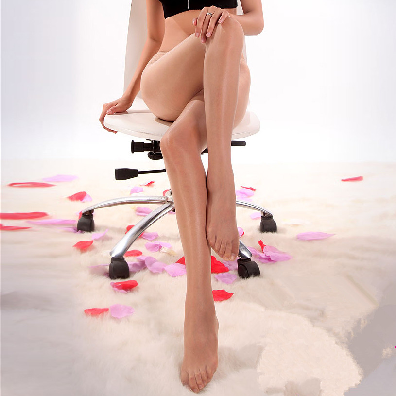female pantyhose open-crotch ultra-thin super smooth womens sexy stockings oil shine transparent tights