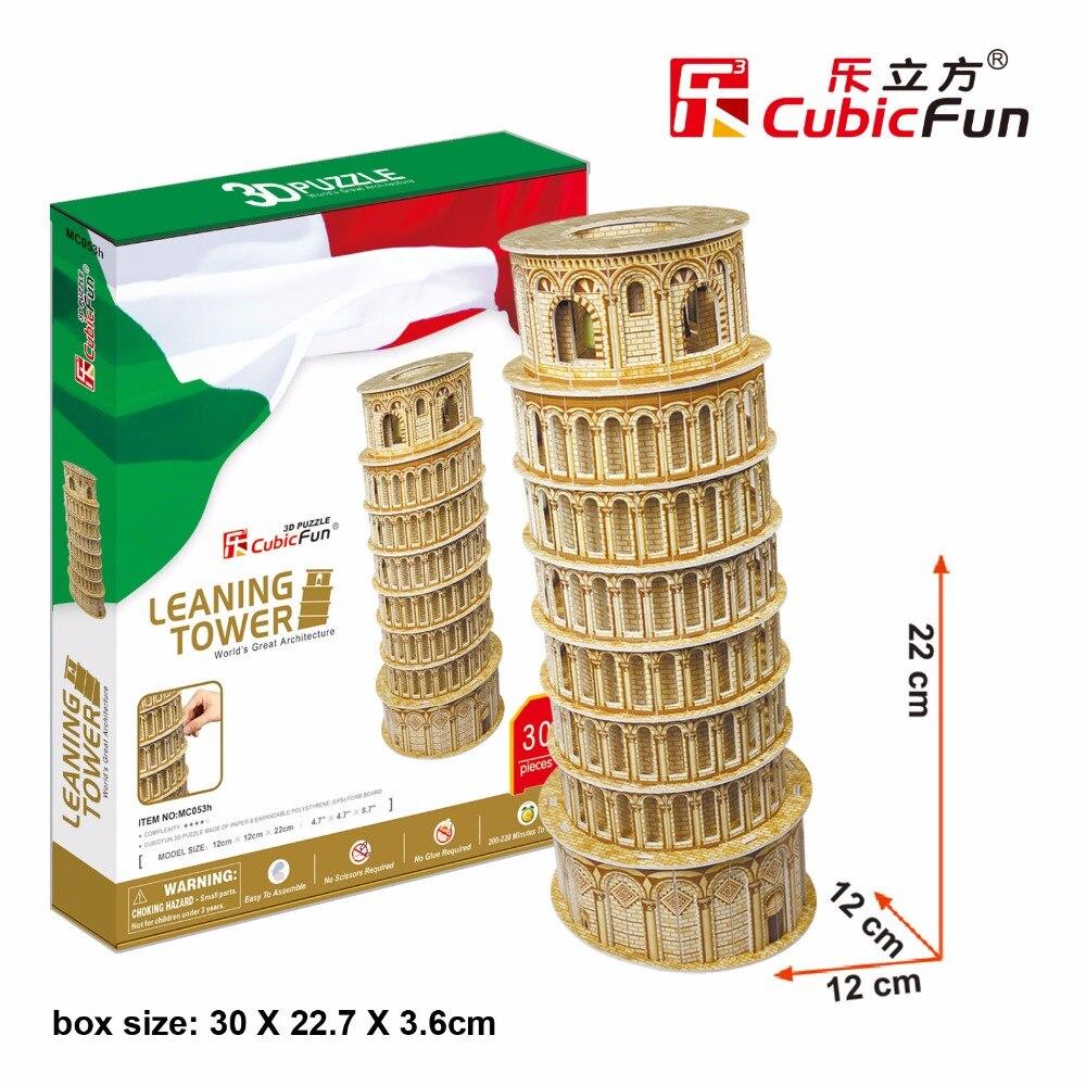 CubicFun 3D пазл Италия Пизанская башня в твердом переплете здания известный архитектура собраны модели развивающие игрушки