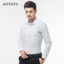 2017 New Oxford Formal Dress Men Shirt  Long Sleeve Male Social Casual Shirts with High Quality 10 colors
