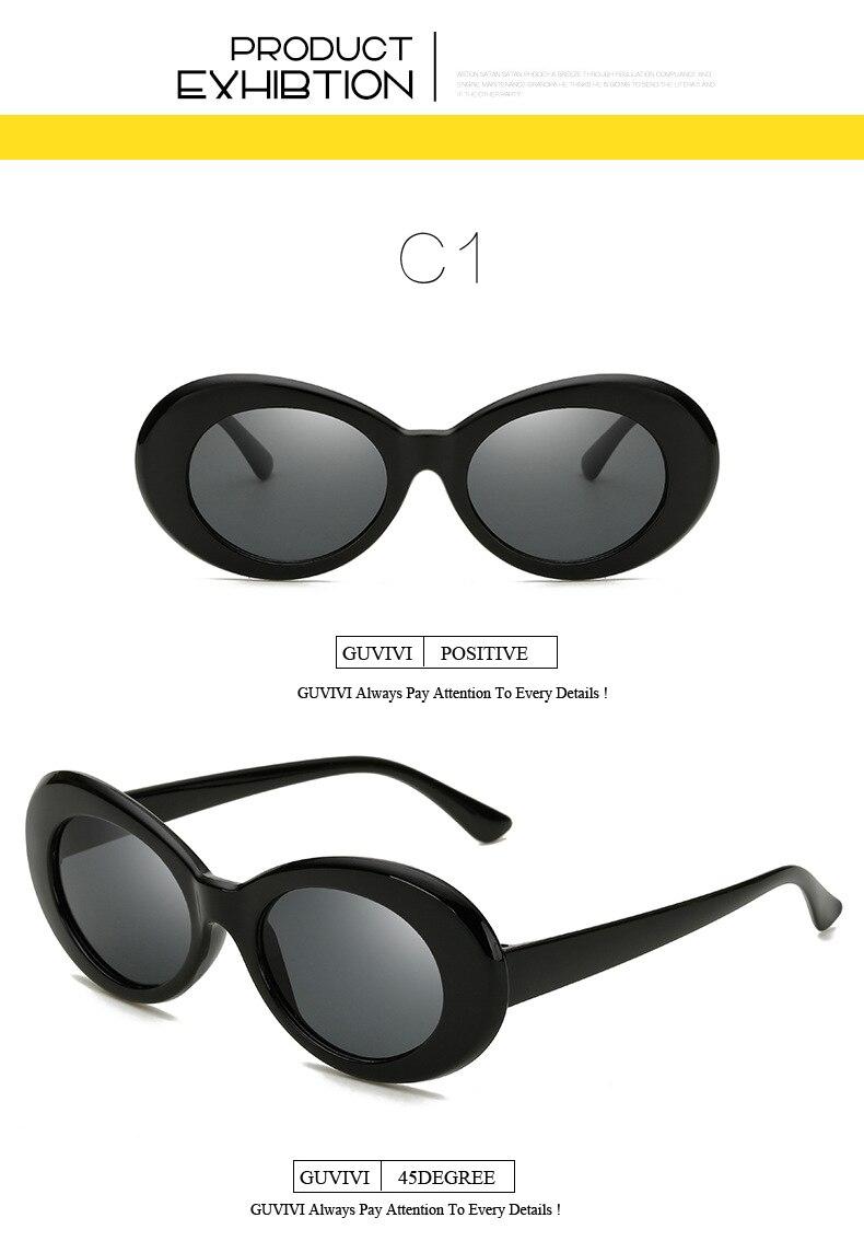 135096460ffc8 2018 Kurt Cobain Oval Óculos De Sol Mulheres Homens Marca Designer ...