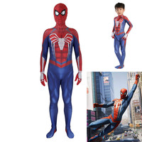3D Printed PS4 Insomniac Spiderman Suit Spandex Games Spidey Cosplay Suit Halloween Cosplay Spider man Costume for adult and kid
