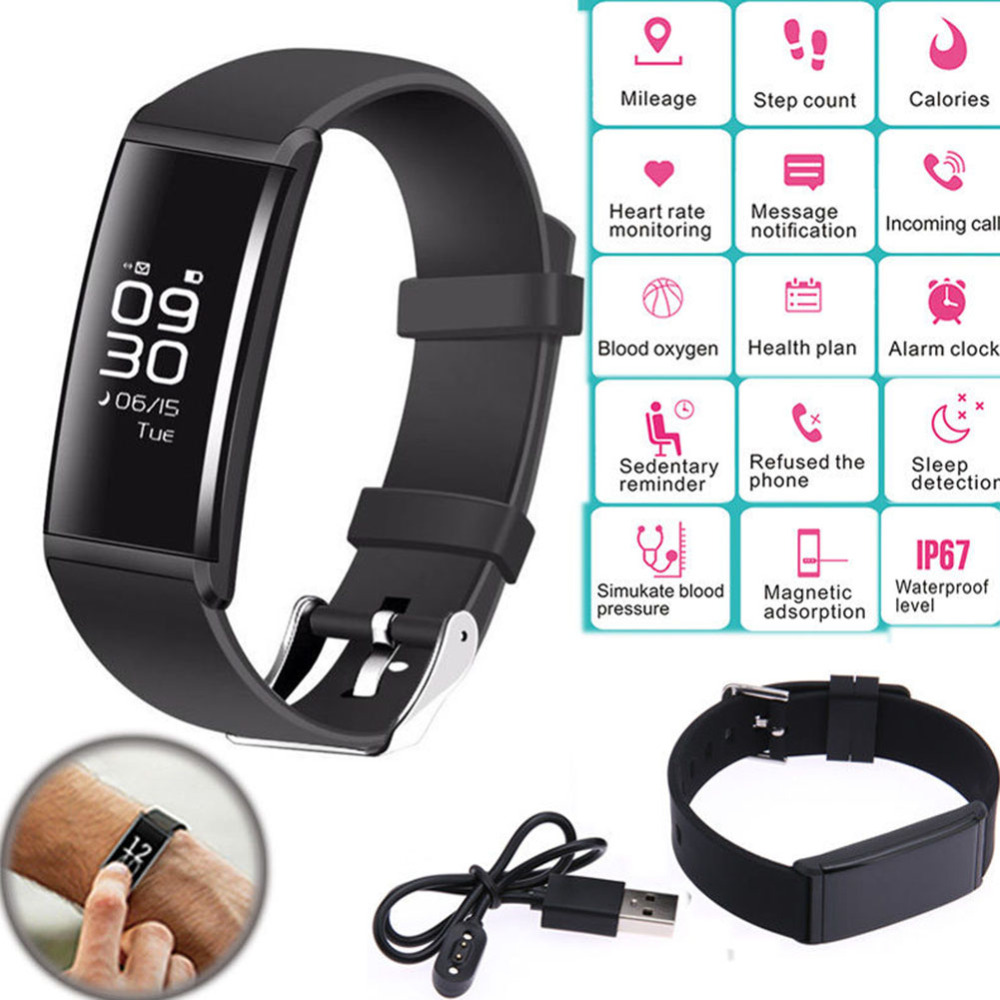 X9 Smart Wristband Fitness Bracelet Heart Rate Monitor Band Blood Pressure Pedometer Waterproof Bracelet for Android