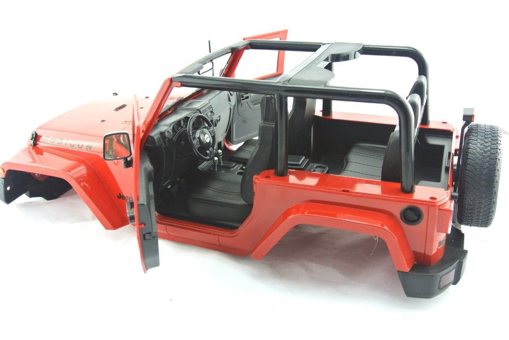 1 10 Scale Rc Crawler Red Yellow Dk Wrangler Jeep Truck Body Without Roof Fits Axial Scx10 Land Rover Defender D90 Rc8wd Crawler Rc Body Redbody Crawler Aliexpress