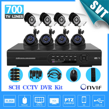 DVR home 8CH CCTV DVR Kit 700tvl CCD Camera surveillance system Support Internet Mobile Phone Monitoring motion detection SNV-72