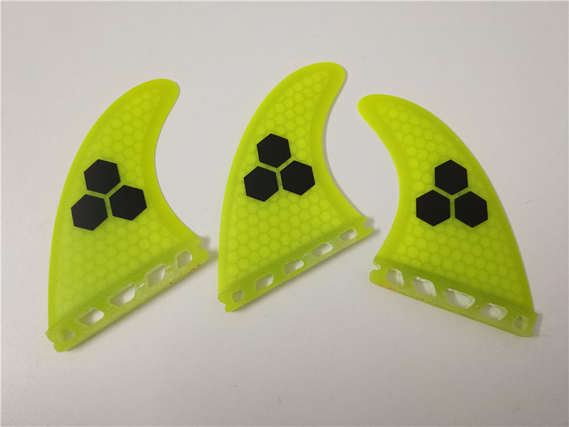 Surf Finder Future G5 Fin gul / sort / grøn Honeycomb Surfboard Finder Future Fiberglass Finder Surf Quilhas Paddle Board