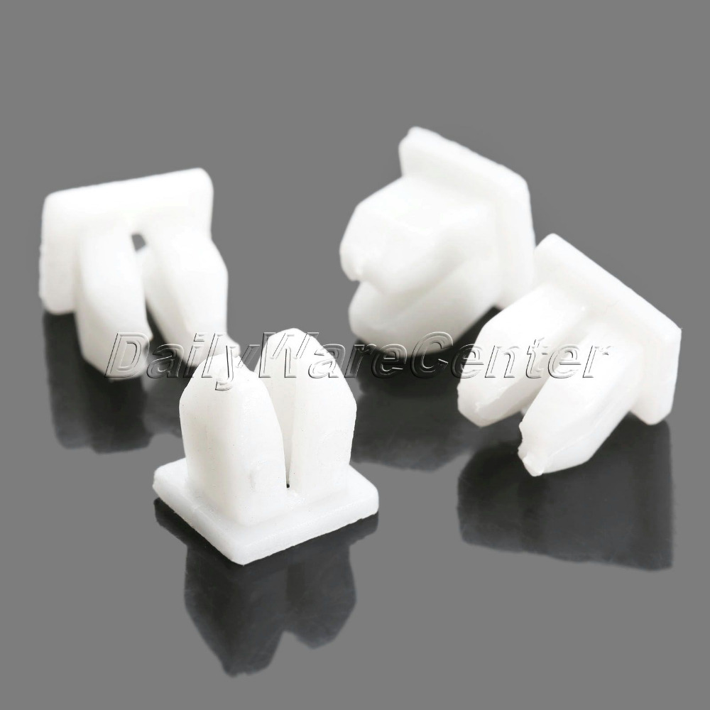 50Pcs Fit 5mm Hole Car White Plastic Push Fasteners Rivets Fender Clips Universal Fender Bumper Door Side Skirt Retainer Clips-in Auto Fastener u0026 Clip from ... & 50Pcs Fit 5mm Hole Car White Plastic Push Fasteners Rivets Fender ...