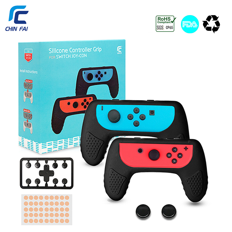 Chinfai 1Pair Silicone Controller Grips Joy-Con Case For Nintend Switch Joy Con Handle NS N-Switch Game Console Accessories ivyueen green pink red housing replacement cover for nintend switch ns joy con shell joy cons controller case game accessories