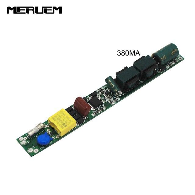 9ワット14ワット18ワット25ワット30ワットledチューブドライバDC36 86V 240/380ma電源85ボルトの265ボルトlighiting変圧器0.6/0.9/1.2/1.5チューブライト