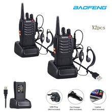 Лидер продаж 2 шт./лот BaoFeng BF-888S рация UHF двухстороннее радио baofeng 888 S UHF 400-470 мГц 16CH портативный трансивер с наушником