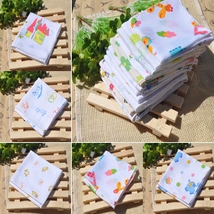 2012 autumn and winter cotton ultra soft breathing cartoon handkerchief 100% child cotton handkerchief