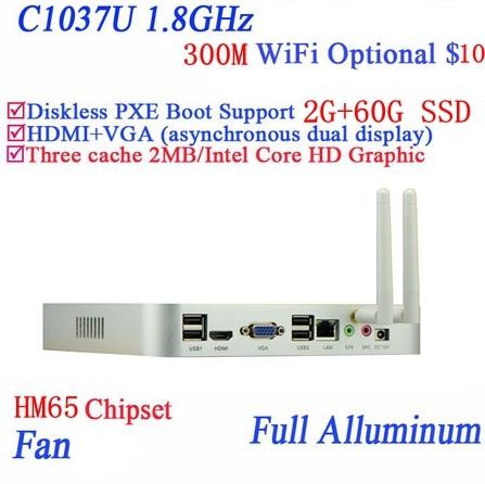 Real power faction Celeron 1037U dual core full aluminum living room HTPC font b Mini b