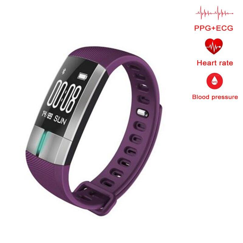 Smart Wristbands Intelligent Heart Rate Arterial Pressure Meter Pedometer Clock Monitor Sleep Monitor Sports Fitness Watch