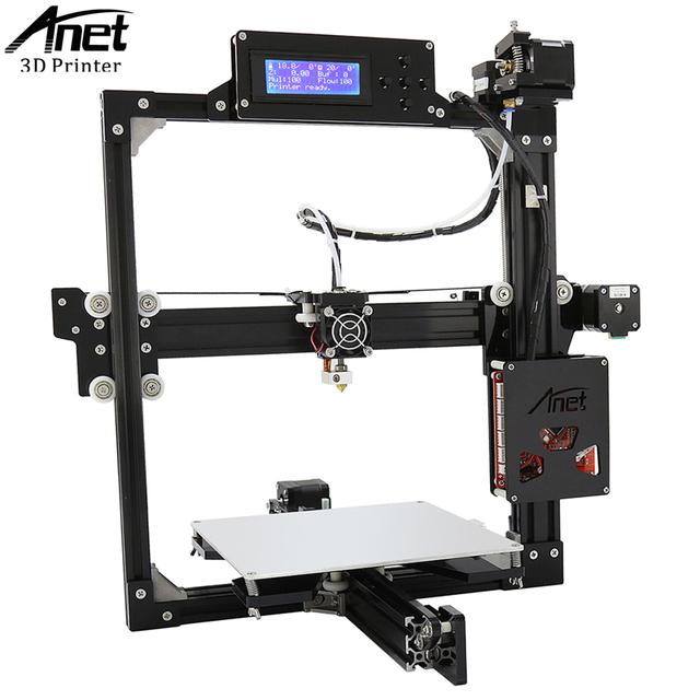 ANET A2 Impressora 3D Full Metal Frame-Alta precisão Impressora 3D KIT DIY Fácil Montar Filamento com sistema de Auto Nivelamento Sensor de posição