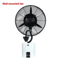 Hanging Spray Fan Wall Cool Temperature atomization humidification mute functions with tank water spray fan Wall mounted fan 1pc