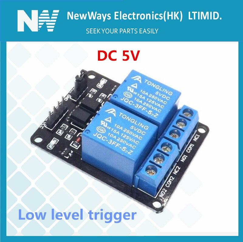 2 канала DC5V релейный модуль низкого уровня триггерное реле с светильник продлевает развязку пластины защитное реле