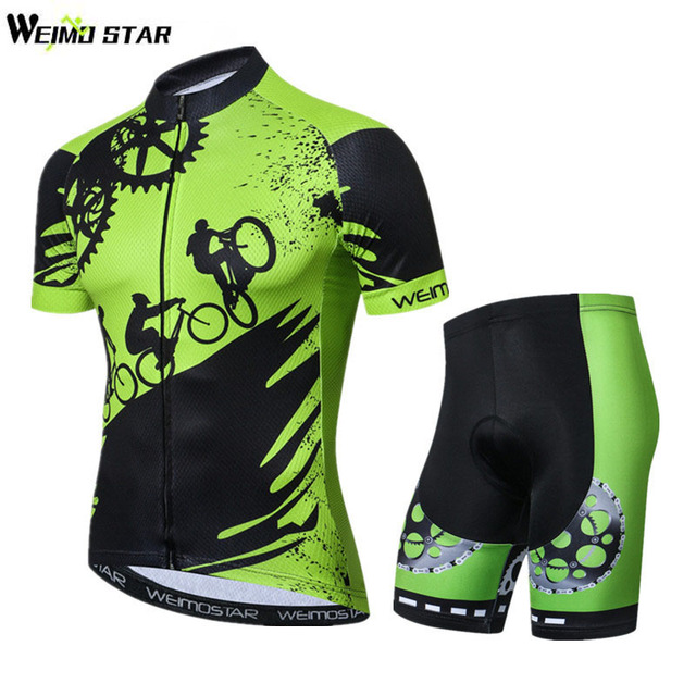 8a38ae492 Weimostar 2018 Pro Team Green Cycling Jersey Set Summer Short MTB Bike  Jersey Ropa Ciclismo Quick Dry Bicycle Cycling Clothing
