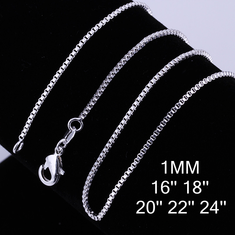 Princess Kylie Rhodium Plated Sterling Silver Thin Anchor 025 Chain 1mm