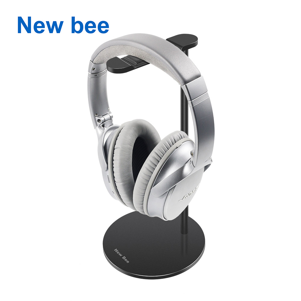 цены New Bee Metal Headset Stand Rack Gaming Headphone Holder Earphone Hanger Earbuds Bracket for All Size Gaming and Audio Headset