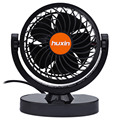 DC 24V Car Truck Orange Adjustable Silent Air Fan Auto Rotation Strong Wind Cooler 360 Degree rotation Low Noise And Strong Wind