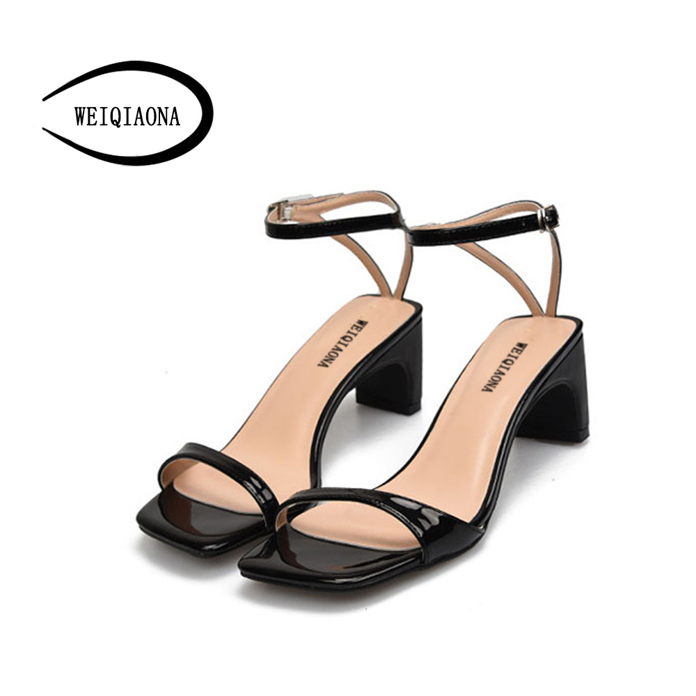 99c121bef85f ... Women Women s WEIQIAONA Sandals Dress High Size Mid 42 Party Big Open  Summer Sandals Strap Ankle ...