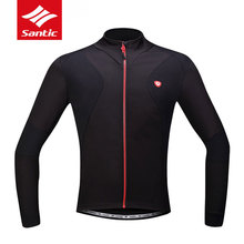 2017 Santic Mens Breathable Cycling Jerseys Winter Fleece Thermal MTB Road Bike Jacket Windproof Warm Quick Dry Bicycle Clothing
