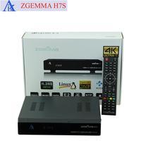 2ชิ้น/ล็อต4พันUHD Kodiทีวีกล่องZ GEMMA H7S Ci + Conax Multistream QT S Talker p lug-inถอดรหัสH.265 DVB-S2X + 2 * DVB-T2/C T Ripleจูนเนอร์