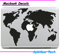 World Map Vinyl Sticker for Macbook Skin Air 11 13 Pro 13 15 17 Retina Tablet Laptop Para Decal for Apple Logo