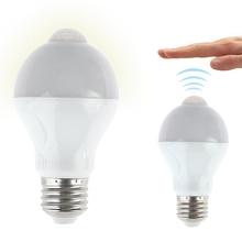 E27 E26 B22 7W 14LEDMotion Sensor Light Bulbs PIR Infrared Motion Detection