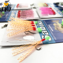 10 bags Sabiki Lure Rigs for Fishing String Hook Souple Skirt Luminous Bead Artificial Bait Fish Supplies,small sea fishing rigs
