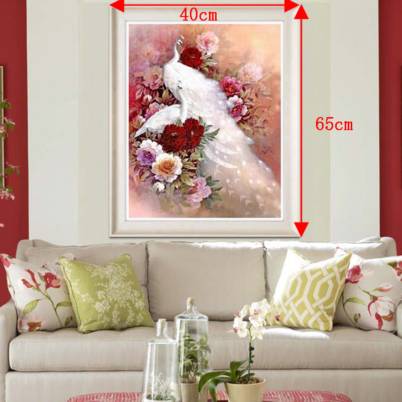 US $16 0 |Peacock Embroidery Animal Pavilion 5D Painting Diamond Cross  Stitch Dot 3D Diamond Mosaic Decoration-in Piano Covers from Home & Garden  on
