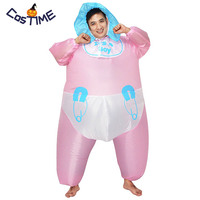 Inflatable Adult Baby Costume It's A Boy Hen Night Party Fancy Dress Pink Inflatable Blow Up Fat Suit Halloween Costumes