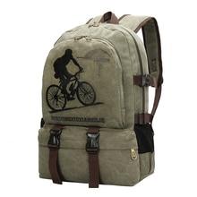 Top 2017 New Fashion Leisure Men's Backpack Zipper Canvas Backpack School Bag Travel Bag Rucksacks Laptop Bag Casual Daypack