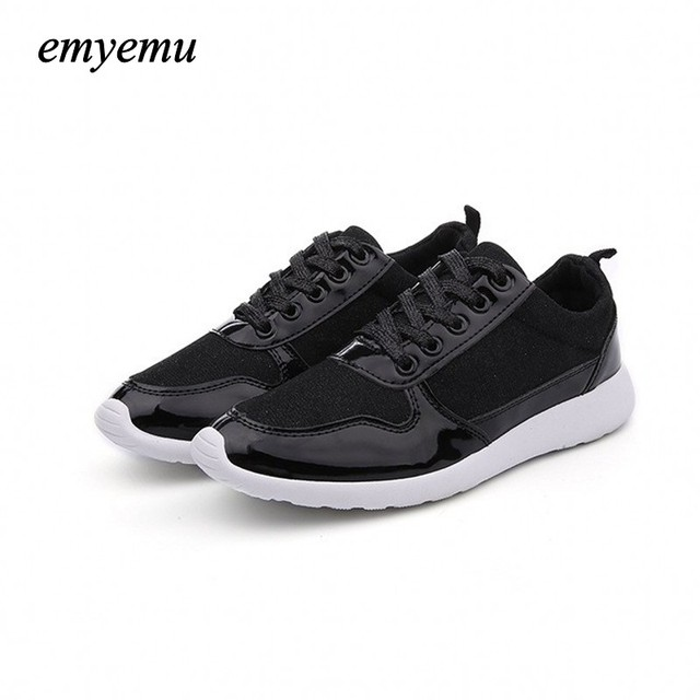 Women shoes 2017 New Fashion Brand shoes for women Casual shoes flat gold black white shoes plus size