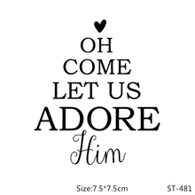 AZSG Come let us adore him Clear Stamps For DIY Scrapbooking/Card Making/Album Decorative Silicon Stamp Crafts