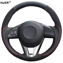 Hand Nähen Auto Lenkrad Abdeckung Wildleder Leder Für Mazda CX 5 CX5 Mazda 6 Atenza 2014 Neue Mazda 3 CX 3 2016 Scion iA 2016