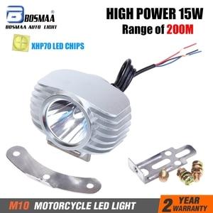 Bosmaa LED Headlight Motorcycle Fog DRL Headlamp Spotlight Hunting Driving Spot Light 6w/15W 2400LM w/ CREE-XHP70 Chips 1set