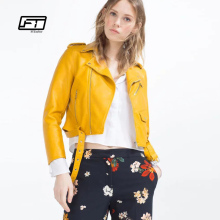 Fitaylor Autumn Women Leather Jackets Soft Pu Faux Leather Coats 2017 Pink Blue Slim Short Design Casual Winter Outwear